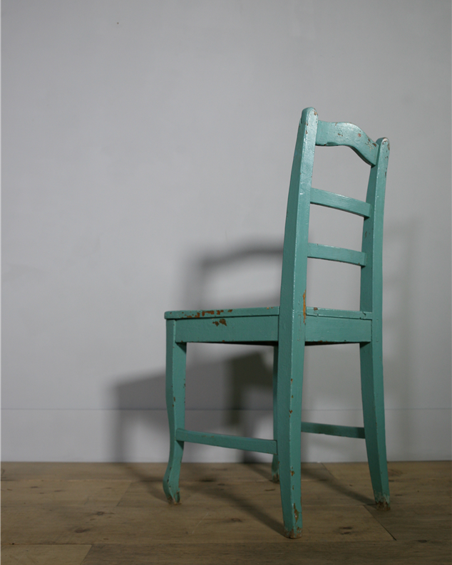 turquoise hungarian chair