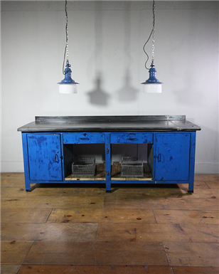 Large Metal Blue Workbench