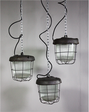 Industrial Caged lights