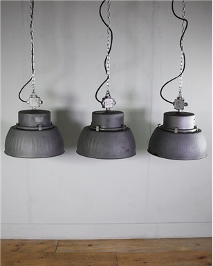 Grey Metal Industrial lights