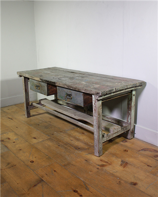 Grey Two Drawer Workbench