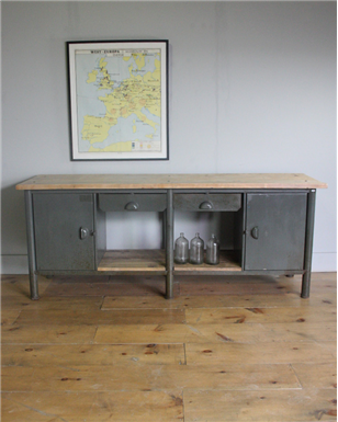 Grey Industrial Workbench