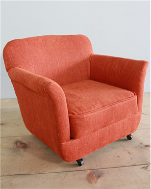 orange kids armchair
