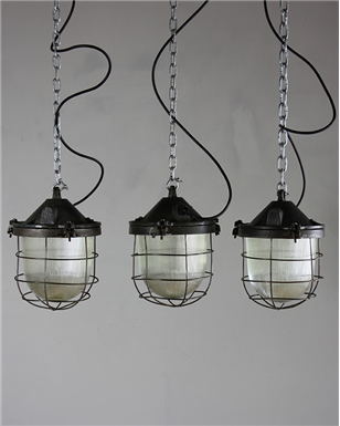 Czech Caged Industrial Lights