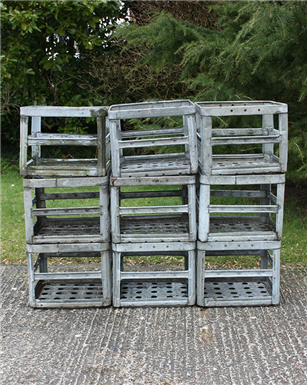 metal flower crates