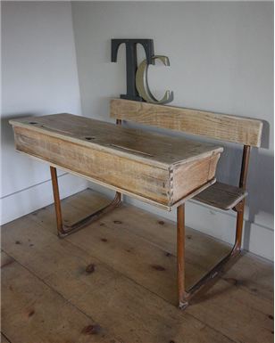 Double Wooden School desks