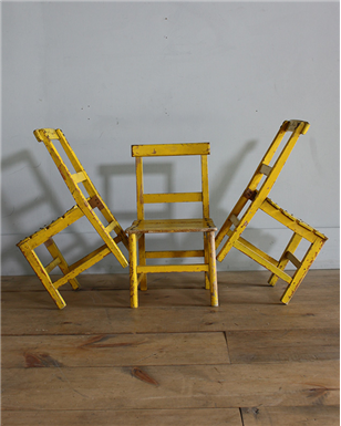 yellow kids chairs