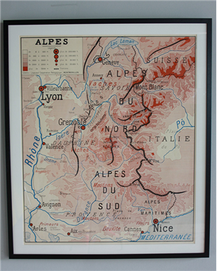 alpes map