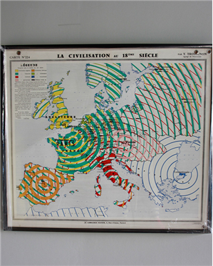French School Climate Map 1950's