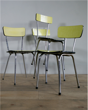 yellow Formica Cafe Chairs