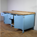 Large Light Blue Workbench