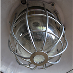 Czech Industrial Lights with Caged Glass