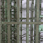 Green Metal Wine Cages.