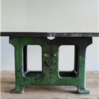 Large Industrial green table