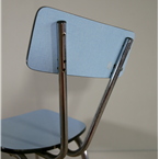 blue formica chairs