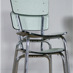 light green formica Cafe Chair